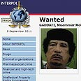 Ousted Libyan leader Muammar Gaddafi Photo: Interpol