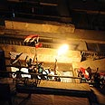 Egyptians attack the Israeli embassy in Cairo Photo: EPA