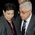 Ashrawi and Abbas (archives) Photo: AP