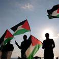 Pro-Palestinian activists at US embassy Photo: Yaron Brener
