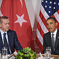 Obama with Erdogan Photo: AFP