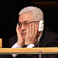 Abbas listening to Obama speech Photo: AP