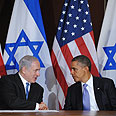 Declining approval rates. Netanyahu and Obama Photo: AFP