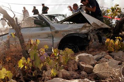 Scene of crash (Photo: Eliad Levy)