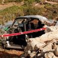Scene of crash Photo: Eliad Levy