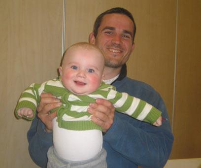 Asher Palmer and son Yehonatan. 'Special man'