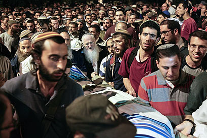 Funeral of Asher and Yonatan Palmer (Photo: Noam Moskowitz)