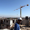 Construction in east Jerusalem Photo: EPA