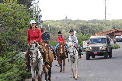 Horseback riding at Mount Odem (Photo: Avihu Shapira) (Photo: Avihu Shapira)