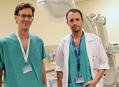 """ד""""ר לנדאו וד""""ר גוטמן. """"בסך רוצים לעבוד משרה אחת"""" (צילום: אלי אלגרט)"""