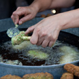 And some falafel too Photo: Mati Milstein
