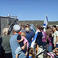 Itamar residents protest against olive harvest Photo: Samaria Settlers' Committee