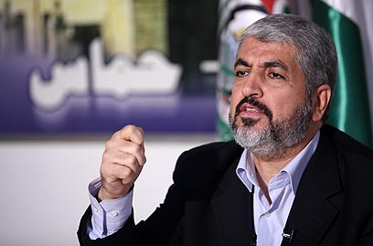 Hamas Politburo Chief Khaled Mashaal (Photo: AFP)