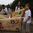 Children preparing for Gilad's return Photo: Avishag Shaar-Yashuv