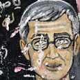 Graffiti of Shalit in Gaza Photo: AP