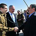 Shalit with Barak Photo: Defense Ministry