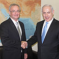Benjamin Netanyahu with German mediator Gerhard Conrad