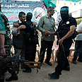 Released Palestinian prisoners in Gaza Photo: Reuters