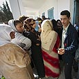 Tunisians waiting in line to vote Photo: AFP