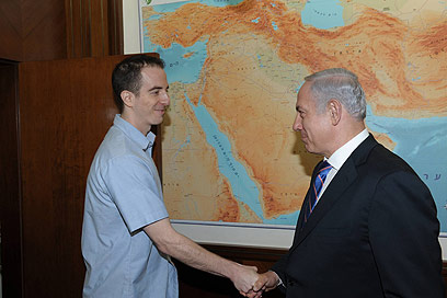 Grapel and Netanyahu (Photo: Amos Ben Gershom, GPO)