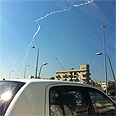 The missile as seen in Tel Aviv Photo: Guy Schliefer