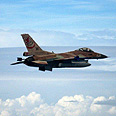 F-16 in Italy's skies Photo courtesy of the IDF Spokesperson's Unit