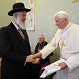Pope Benedict XVI with Chief Rabbi Metzger Photo: AFP