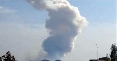 Huge blast outside Iran (Photo: Reuters)