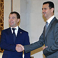 Russian President Medvedev with Syrian President Assad (archives) Photo: EPA