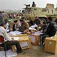 Counting votes at Egyptian ballots Photo: AP