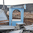 The Torah ark, after the demolition Photo: Shomron Settlers' Committee