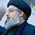 Nasrallah during procession Photo: Manat TV