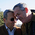 Barak and Gantz Photo: Defense Ministry