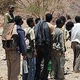 Sudanese infiltrators on Egyptian border Photo: Yair Sagi