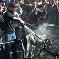 Site of previous strike in Gaza Photo: AP