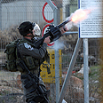 A clash between IDF troops and families of Palestinian prisoners at Ofer Prison near Ramallah AFP