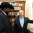 Netanyahu and South Sudan president in Israel Photo: Avi Ohayon, GPO
