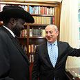 Netanyahu and South Sudan president in Israel Photo: Avi Ohayon, GPO