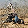 Infiltrators' clothes left on Egyptian border Photo: Roee Idan