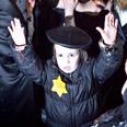 Haredi protestors using Holocaust symbols Photo: Noam Moscovich