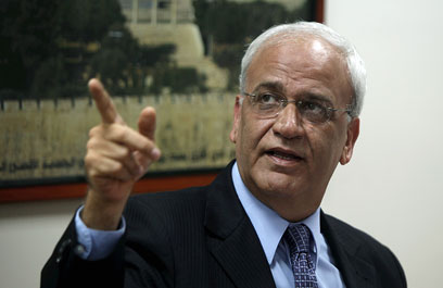 Palestinian negotiator Saeb Erekat (Photo: EPA)