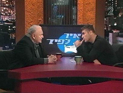 """יאיר ויוסף לפיד. """"יאיר פייסן יותר"""" (צילום: ערוץ 2)"""