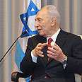 Peres. First to respond Photo: Mark Neiman