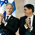 Ambassador Oren (L) and Lew Photo: Shmulik Almani