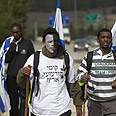 Protesting against racism Photo: AFP