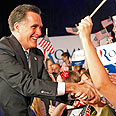 Mitt Romney. Strong pro-Israel line Photo: MCT