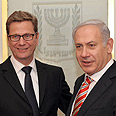 Westerwelle and Netanyahu Photo: Amos Ben Gershom, GPO