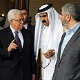 Local matter? Palestinian faction sign deal in Qatar Photo: EPA