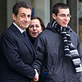 Meeting in Paris: Sarkozy and Shalit Photo: AFP