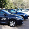Better Place electric cars (archives) Photo: Ronen Topelberg